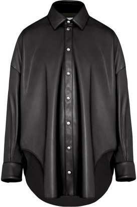 Fenty by Rihanna Faux leather oversized shirt