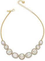 Kate Spade 14k Gold-Plated Large Crystal and Pavé Collar Necklace