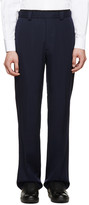 Valentino Navy Twill Flare Trousers