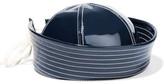 Prada Patent-leather Sailor Hat - Navy