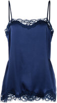 Gold Hawk lace trim cami top - women - Silk/Nylon - S