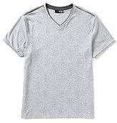 Murano Liquid Luxury Short-Sleeve Slim-Fit Printed V-Neck