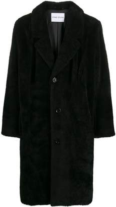 STAND STUDIO shearling single breasted coat
