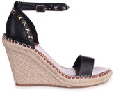 Linzi PROSECCO - Black Espadrille Wedge With Studded Detail