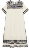 Sea Sarafan Fringed Embroidered Cotton-Muslin Tunic