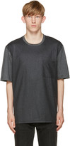 Ami Alexandre Mattiussi Grey Colorblocked T-shirt