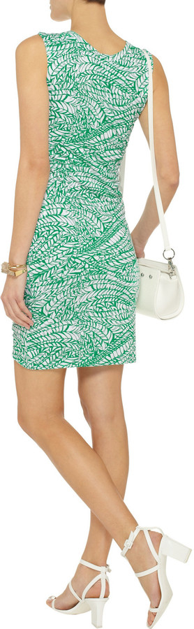 LnA Printed stretch-jersey dress