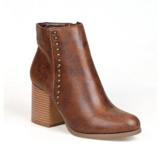 Mark & Maddux Mid-Calf Women's Chunky Heel Booties