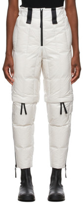 Issey Miyake White Down Transform Trousers