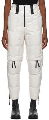 Issey Miyake White Down Transform Trousers