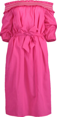 Blumarine Off Shoulder Belted Dress