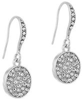 Laundry by Shelli Segal Cubic Zirconia Silvertone Disc Drop Earrings