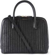 Karen Millen Hand-woven Leather Bag - Black