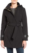 Via Spiga Petite Women's Belted Soft Shell Coat