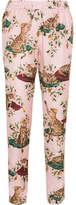 Dolce & Gabbana Printed Silk-twill Pants - Pink