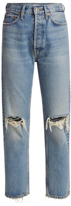 RE/DONE '70s Ultra Stovepipe Straight-Leg Distressed Jeans