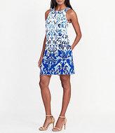 Lauren Ralph Lauren Damask Print Trapeze Dress