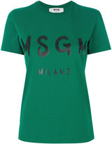 MSGM branded T-shirt - women - Cotton - L