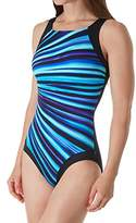 Reebok Women's High Neck One Piece Swimsuit