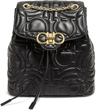 Salvatore Ferragamo Quilted Chainlink Backpack