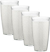Kraftware Fishnet Set of 4 24-oz. Doublewalled Glasses