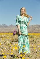 Shabby Apple Daylily Jersey Maxi Dress Green