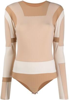 MM6 MAISON MARGIELA Paneled Colour Block Bodysuit