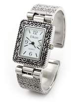 FTW Metal Western Style Decorated Rectangle Face Women's Bangle Cuff Watch