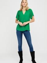 Monsoon Arabella Short Sleeve Blouse - Green