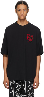 Marcelo Burlon County of Milan Black Multi Faces T-Shirt