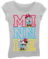 Freeze Heather Gray Minnie Mouse Princess Tee - Girls