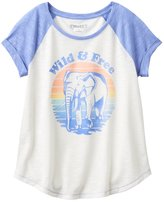 Mudd Girls 7-16 & Plus Size Raglan Stitched Patch Tee