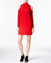 Kensie Mock-Neck Cold-Shoulder Shift Dress, A Macy's Exclusive