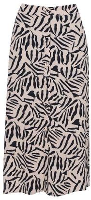 Oasis Tiger Stripe Midi Skirt