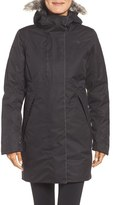 The North Face Women's Crestmont Waterproof Down Parka With Faux Fur Trim