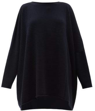 eskandar Oversized Ribbed-cashmere Sweater - Womens - Navy