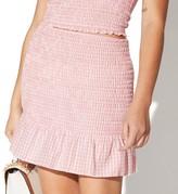 Juniors' Vylette Smocked & Ruffled Skirt