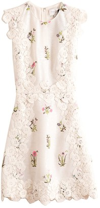 Giambattista Valli Shift Sequin Dress in Ivoire/Embroidery