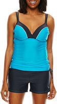 Free Country Double-Strap Adjustable Tankini Swim Top
