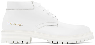 Common Projects White Combat Derbys