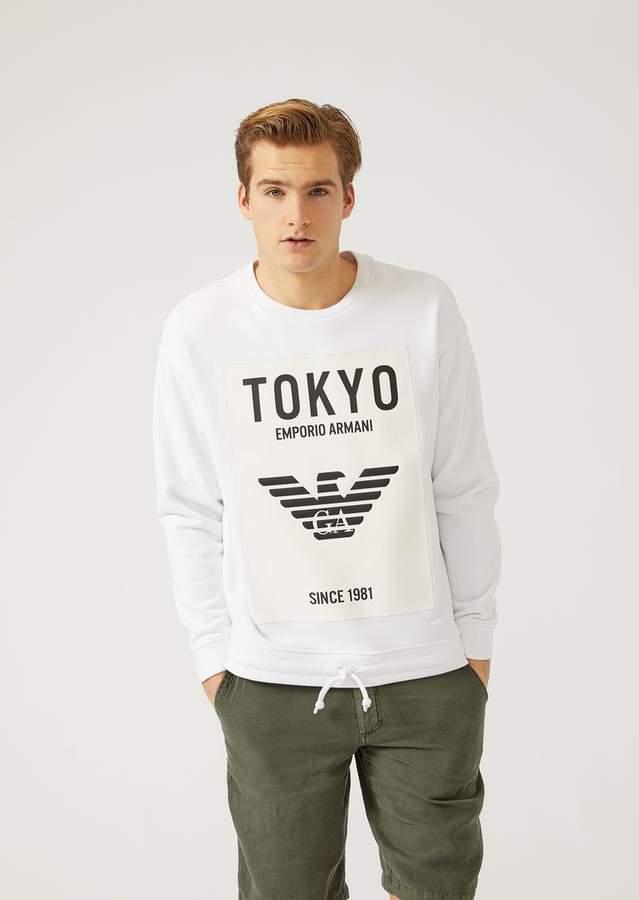 "Emporio Armani City"" Sweatshirt In Stretch Cotton"