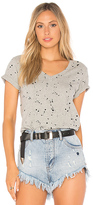 Bobi Punk Splatter Tee in Gray. - size L (also in XS)