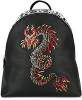 Philipp Plein Pao Pao backpack - men - Calf Leather/Brass - One Size