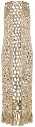 Gentry Portofino Loose Knit Long-Line Cardigan