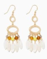 Charming charlie Shell Fringe Dangle Earrings