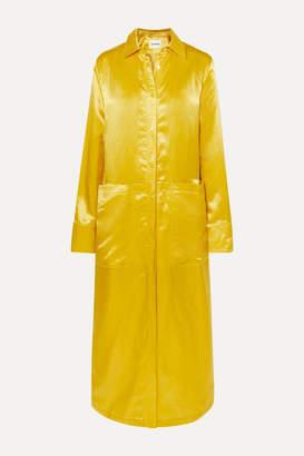 Jil Sander Satin Maxi Dress - Yellow