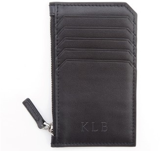 Royce Leather Royce New York Personalized Leather Zippered Card Wallet