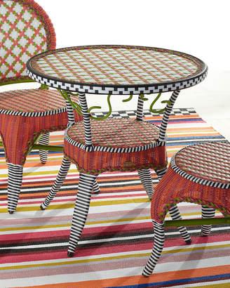 Mackenzie Childs Breezy Poppy Outdoor Cafe Table