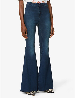 Free People Just Float On flared slim-fit high-rise jeans