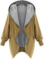 DJT Womens Hooded Zip-up Sweatshirt Coat Jacket